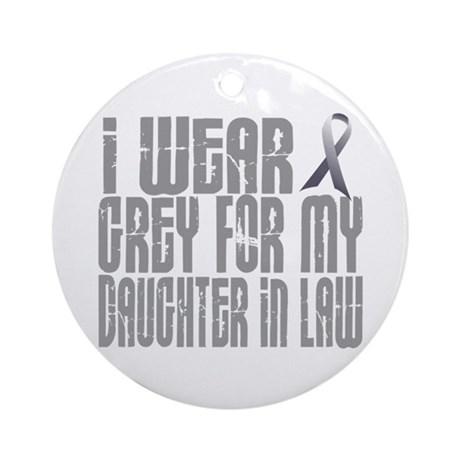 I Wear Grey For My Daughter-In-Law 16 Ornament (Ro