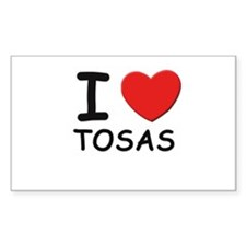 I love TOSAS Rectangle Decal