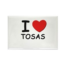 I love TOSAS Rectangle Magnet
