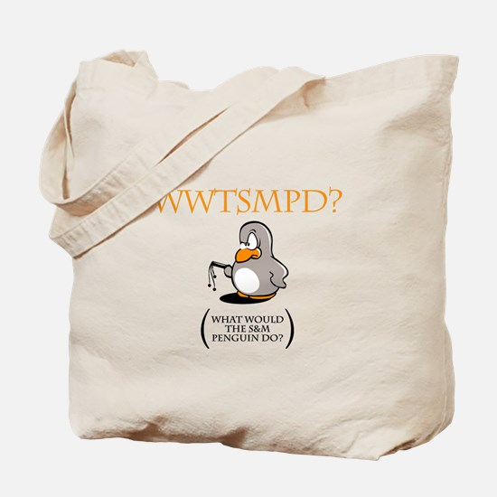 S&M Penguin Tote Bag