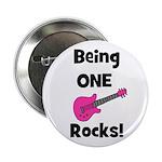 "Being ONE Rocks! pink 2.25"" Button"