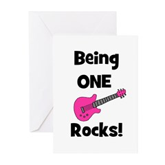 Being ONE Rocks! pink Greeting Cards (Pk of 10)