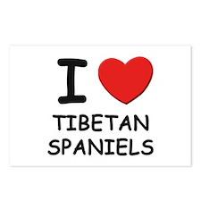 I love TIBETAN SPANIELS Postcards (Package of 8)