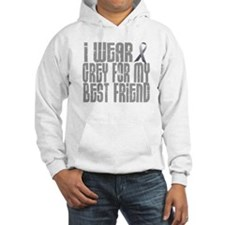 I Wear Grey For My Best Friend 16 Hoodie