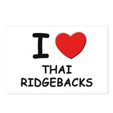 I love THAI RIDGEBACKS Postcards (Package of 8)