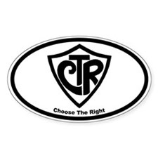 "CTR ""Choose the Right"" Oval Decal"