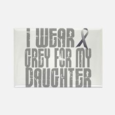 I Wear Grey For My Daughter 16 Rectangle Magnet