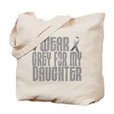 I Wear Grey For My Daughter 16 Tote Bag