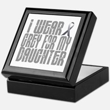 I Wear Grey For My Daughter 16 Keepsake Box
