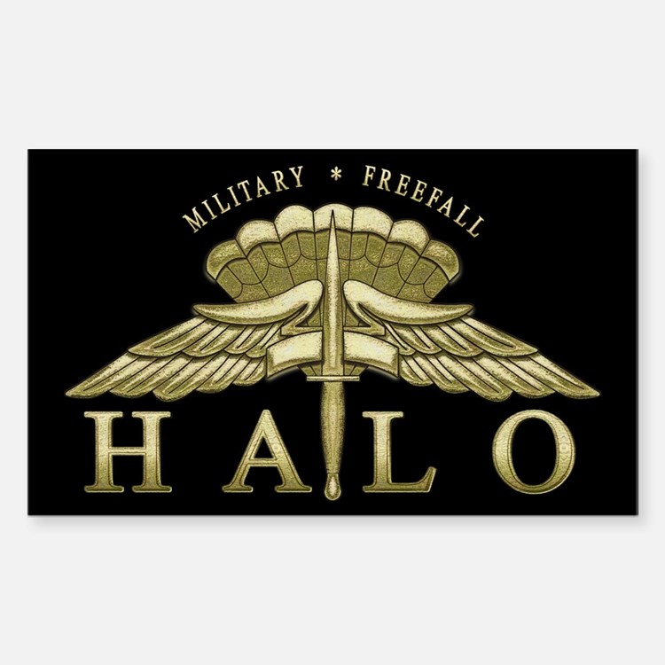 Halo Badge Rectangle Decal