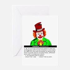 Clown (kloun) Greeting Card