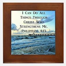 PHIL 4:13 VERSE Framed Tile