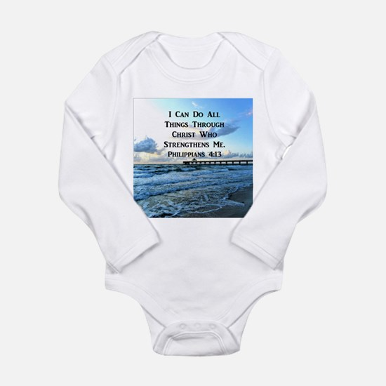 PHIL 4:13 VERSE Long Sleeve Infant Bodysuit