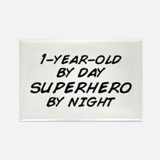 1 Year Old Superhero by Night Rectangle Magnet