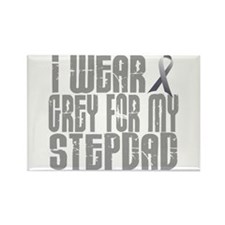 I Wear Grey For My Stepdad 16 Rectangle Magnet