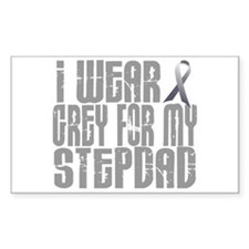 I Wear Grey For My Stepdad 16 Rectangle Decal