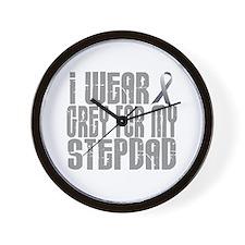 I Wear Grey For My Stepdad 16 Wall Clock