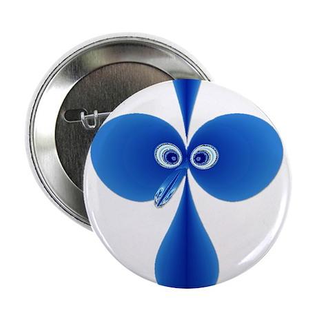 """Booby Bird Blue 2.25"""" Button"""