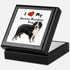 I Love My Bernese Mtn Dog Keepsake Box