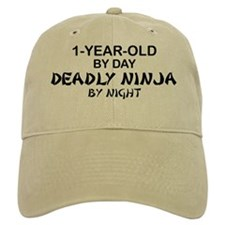 1-Year-Old Deadly Ninja by Night Baseball Cap