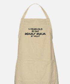 1-Year-Old Deadly Ninja by Night BBQ Apron