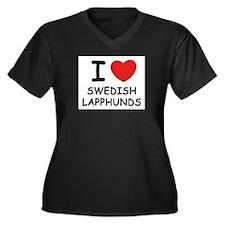 I love SWEDISH LAPPHUNDS Women's Plus Size V-Neck