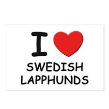 I love SWEDISH LAPPHUNDS Postcards (Package of 8)