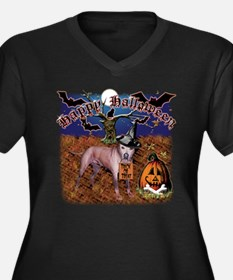 halloween design3 Women's Plus Size V-Neck Dark T-