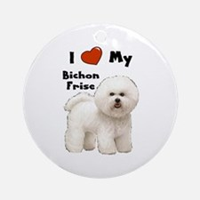 I Love My Bichon Frise Ornament (Round)