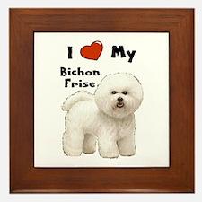 I Love My Bichon Frise Framed Tile