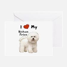 I Love My Bichon Frise Greeting Card