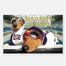 Gold Metal Wieners Postcards (Package of 8)