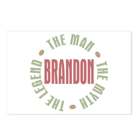Brandon Man Myth Legend Postcards (Package of 8)