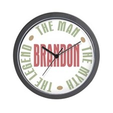 Brandon Man Myth Legend Wall Clock