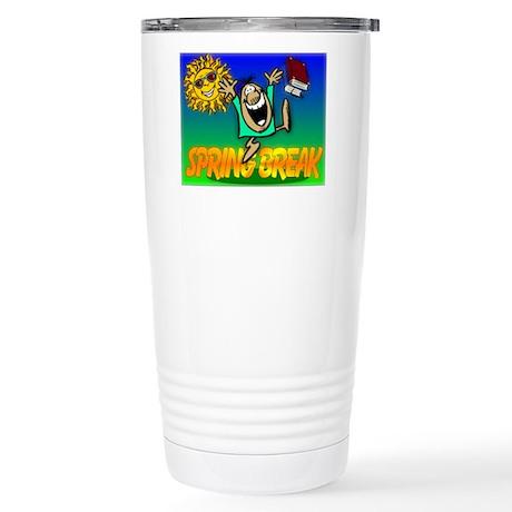 Spring Break Stainless Steel Travel Mug