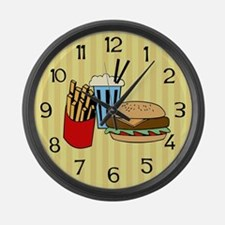 Fast Food Large Wall Clock