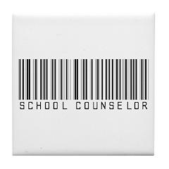 School Counselor Barcode Tile Coaster