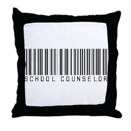School Counselor Barcode Throw Pillow