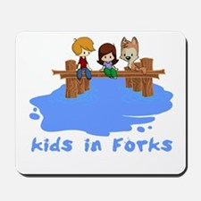 Kids in Forks Mousepad
