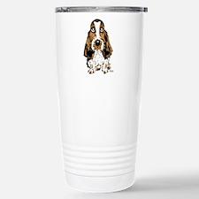 Basset Hound Stainless Steel Travel Mug