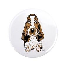"""Basset Hound 3.5"""" Button (100 pack)"""