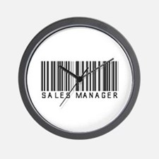 Sales Manager Barcode Wall Clock