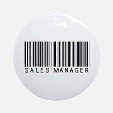 Sales Manager Barcode Ornament (Round)