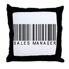 Sales Manager Barcode Throw Pillow
