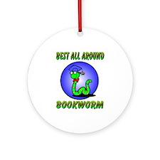 Best Bookworm Ornament (Round)