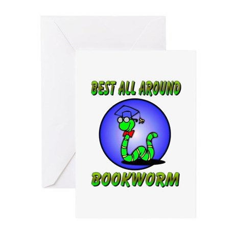 Best Bookworm Greeting Cards (Pk of 10)
