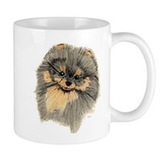 Pomeranian Black & Tan pencil Mug