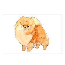 Pomeranian Fullbody Watercolor Postcards (Package