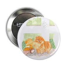 "Pomeranian w/Boot 2.25"" Button"
