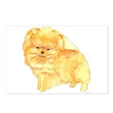 Pomeranian Puppy Orange Postcards (Package of 8)